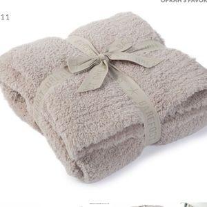 Barefoot Dreams Cozychic Stone Throw Blanket New